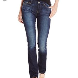 For all 7 mankind dark wash straight leg jeans